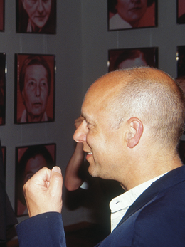 Brian-Eno-at-the-Opening-of-the-Helnwein-Retrospective