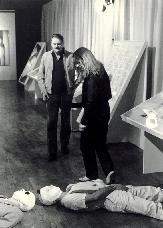 Poet HC Artmann und Renate Helnwein