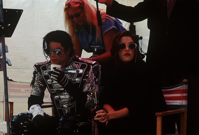 Michael Jackson and Lisa Marie Presley