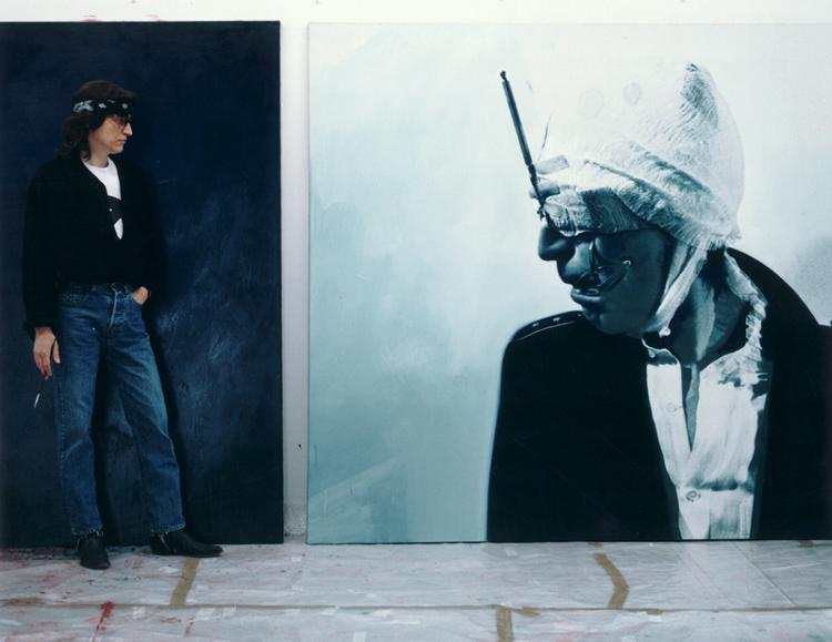 Helnwein with self-portrait