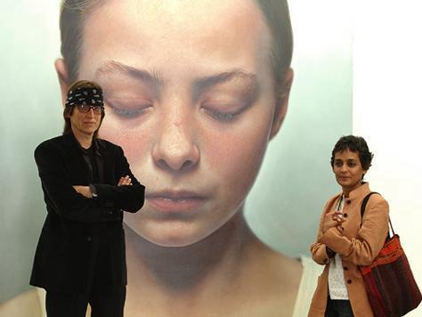 Helnwein and Arundhati Roy 2003