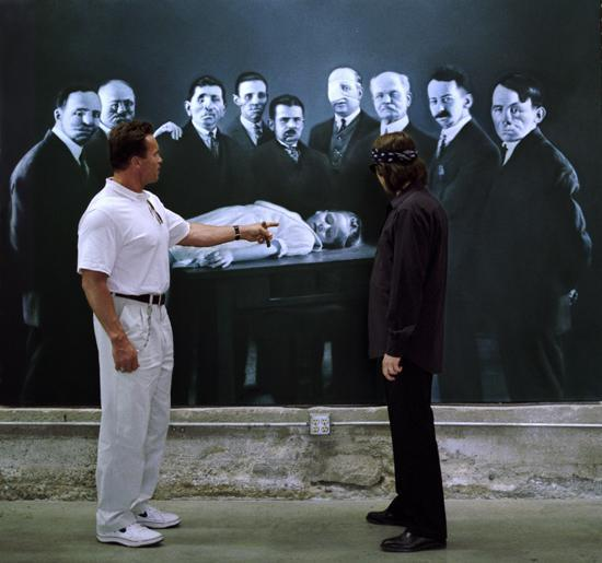 Arnold Schwarzenegger and Helnwein
