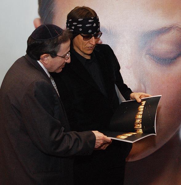 Rabbi Marvin Hier and Helnwein