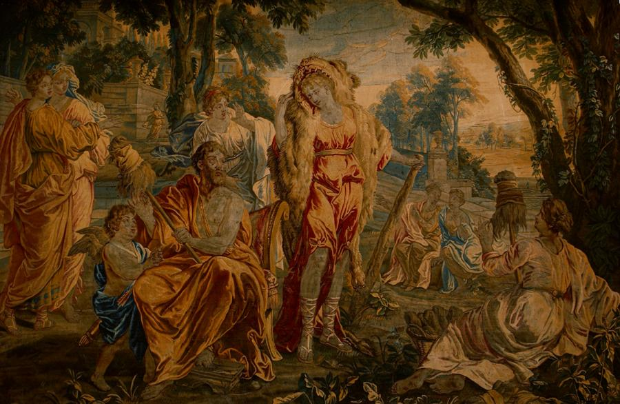 Hercules and Omphale, tapestry, early 18th century, France