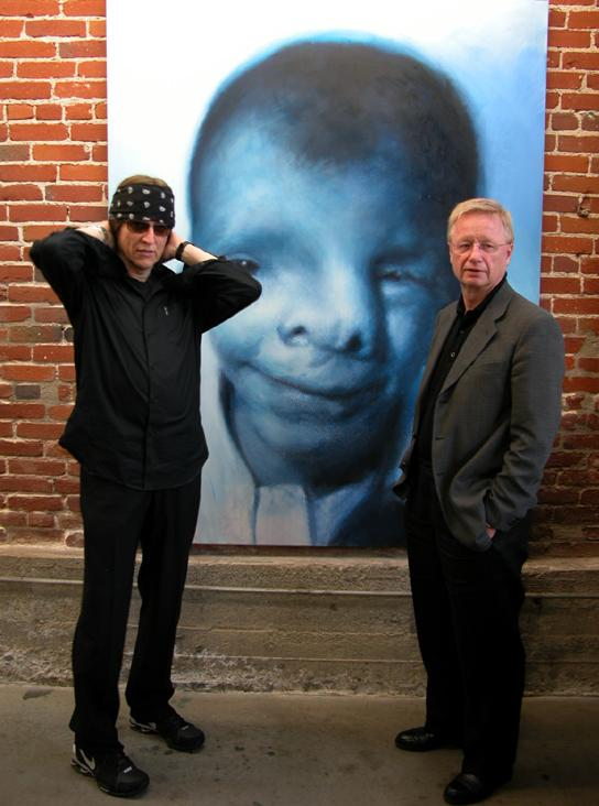 Helnwein and  Franz Morak, Austrian Secretary of State for the Arts