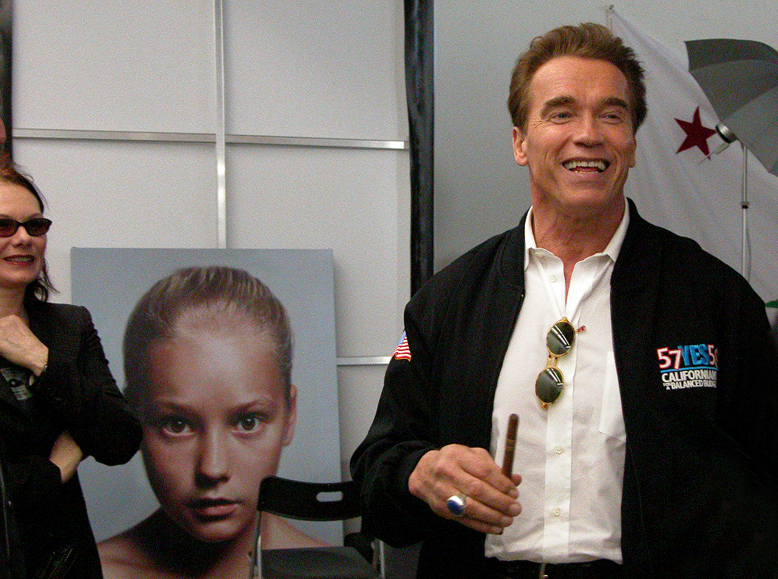Governor Arnold Schwarzenegger at the Studio