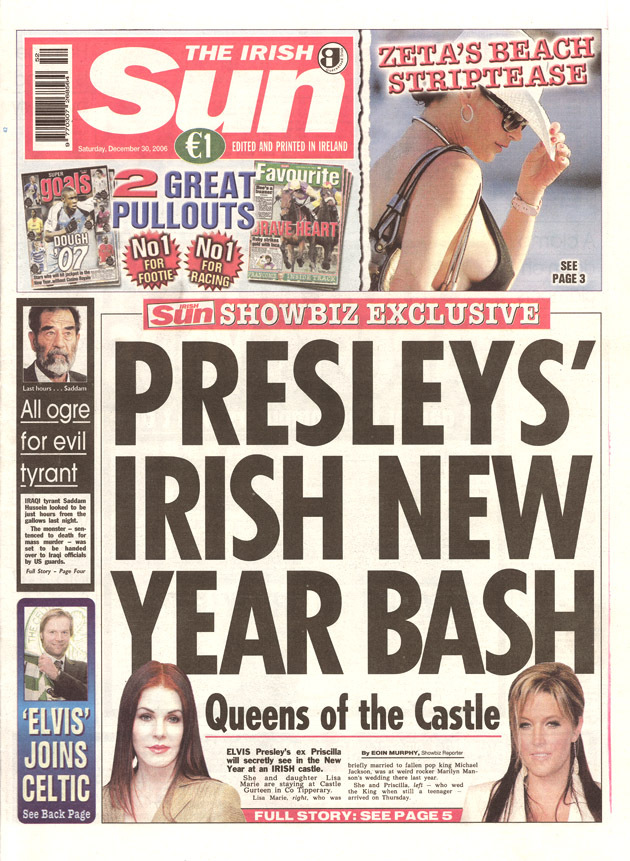 The Irish Sun, frontpage