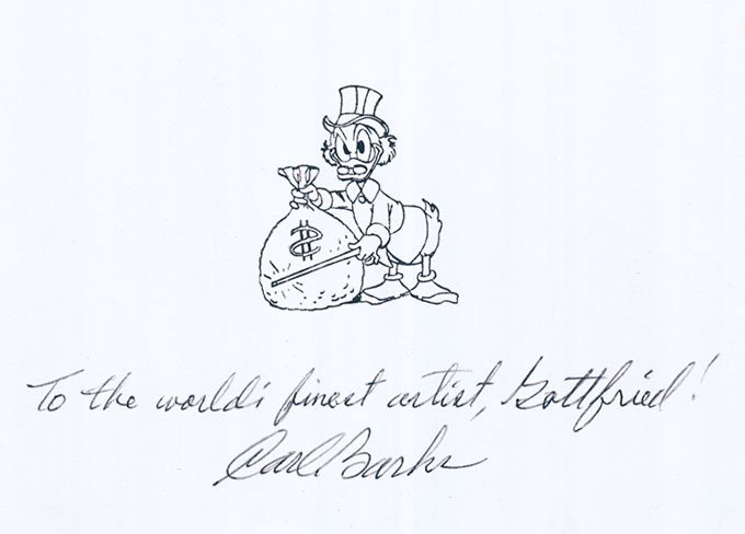 Widmung von Carl Barks