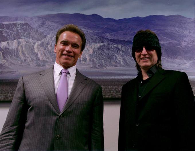 Governor Arnold Schwarzenegger and Gottfried Helnwein