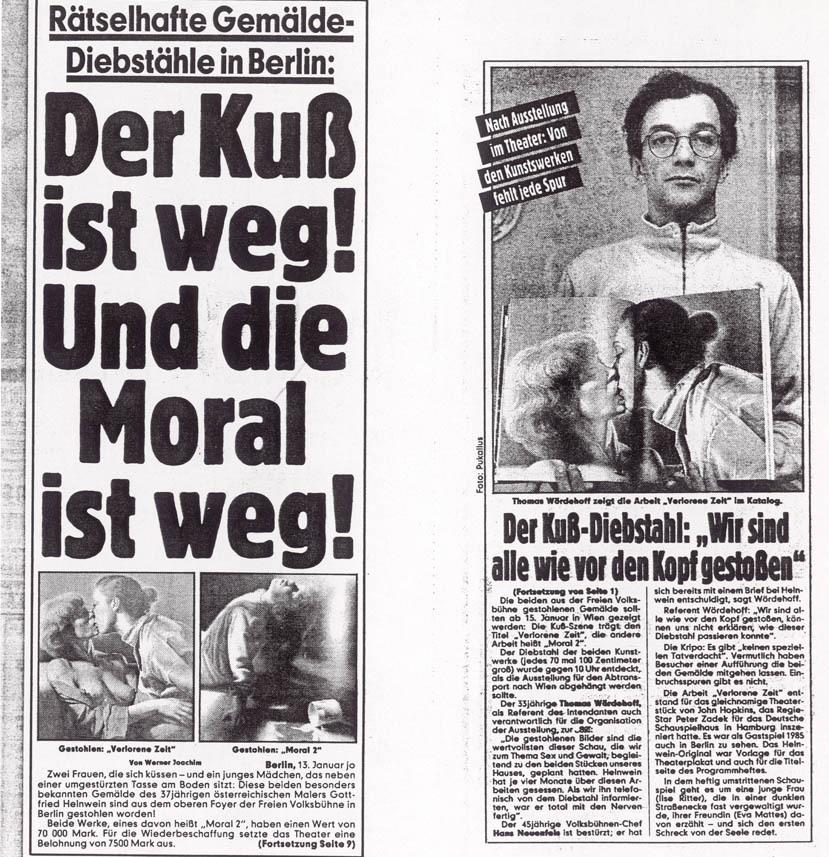 BZ Berlin newspaper, frontpage