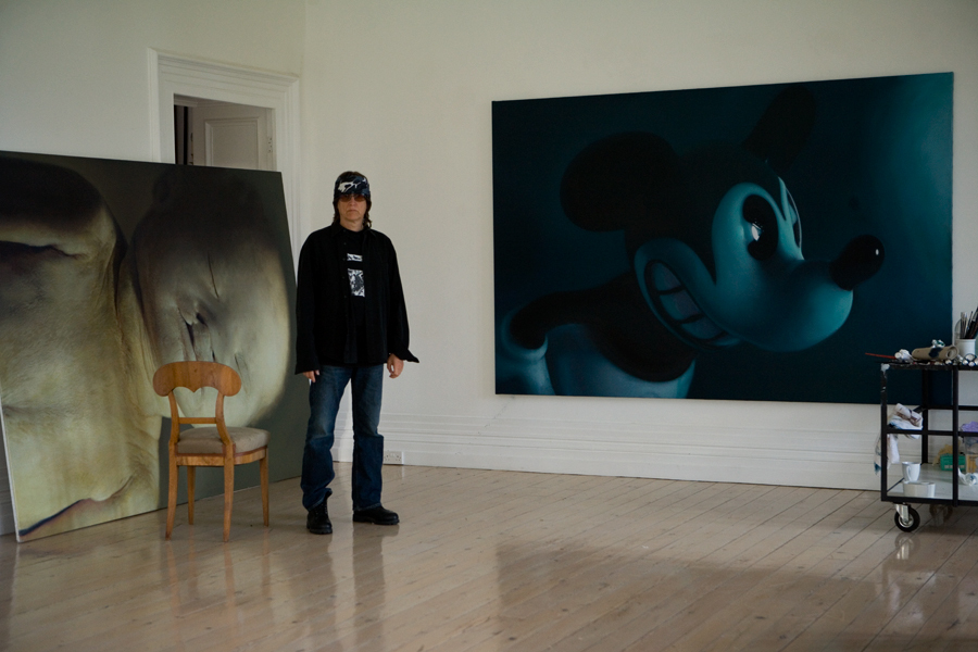 Helnwein in the studio