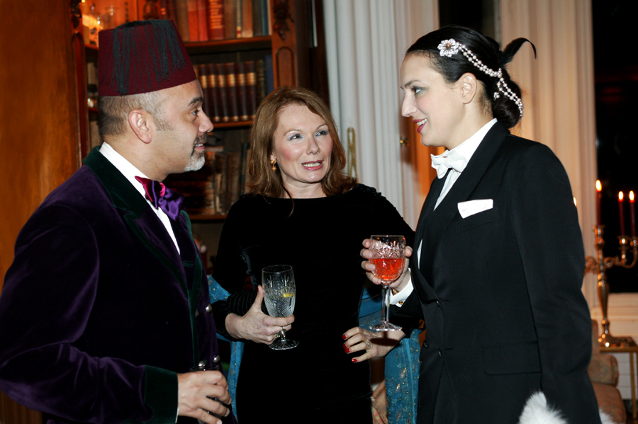 Christian Louboutin, Renate Helnwein and Olga Princess of Greece and Denmark