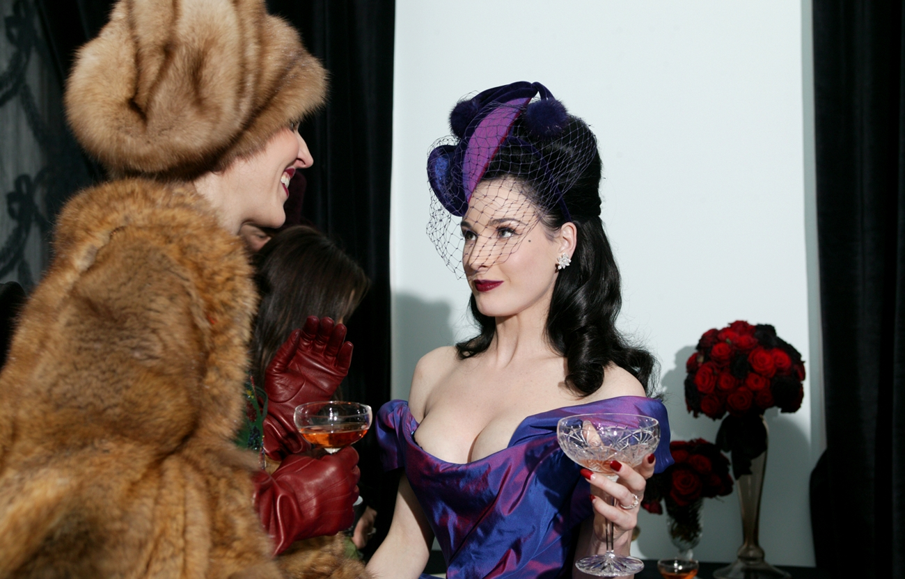 Olga Princess of Greece and Dita Von Teese