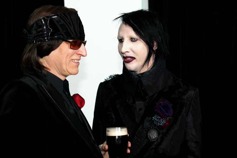 Helnwein and Manson at the wedding