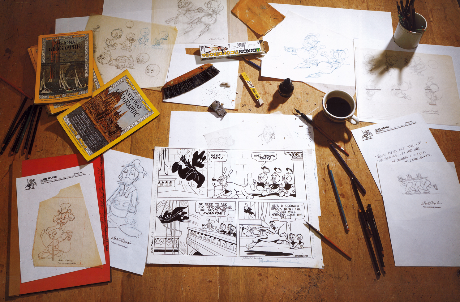 The Desk of Carl Barks