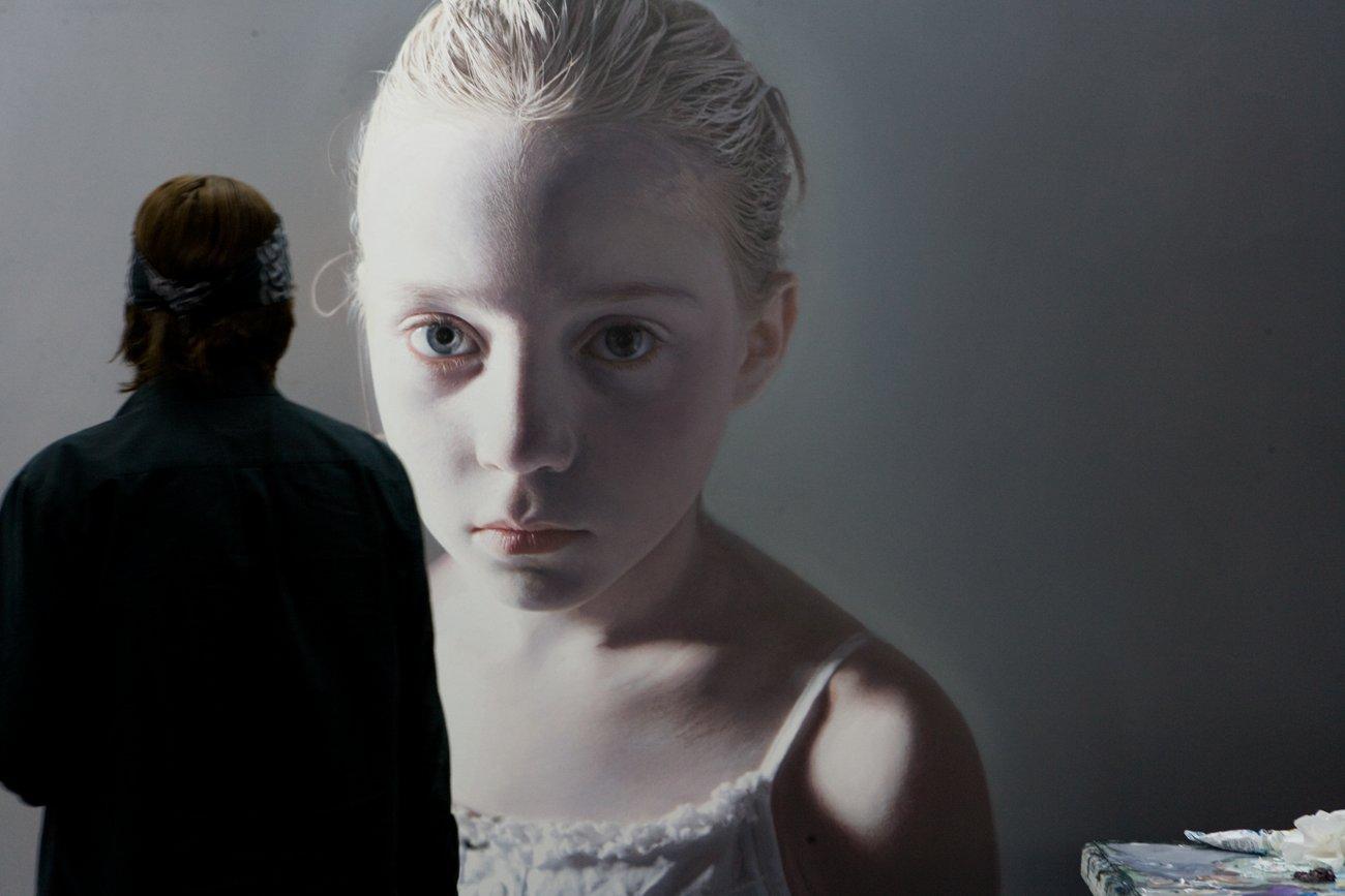 "Helnwein working on ""Murmur of the Innocents"""