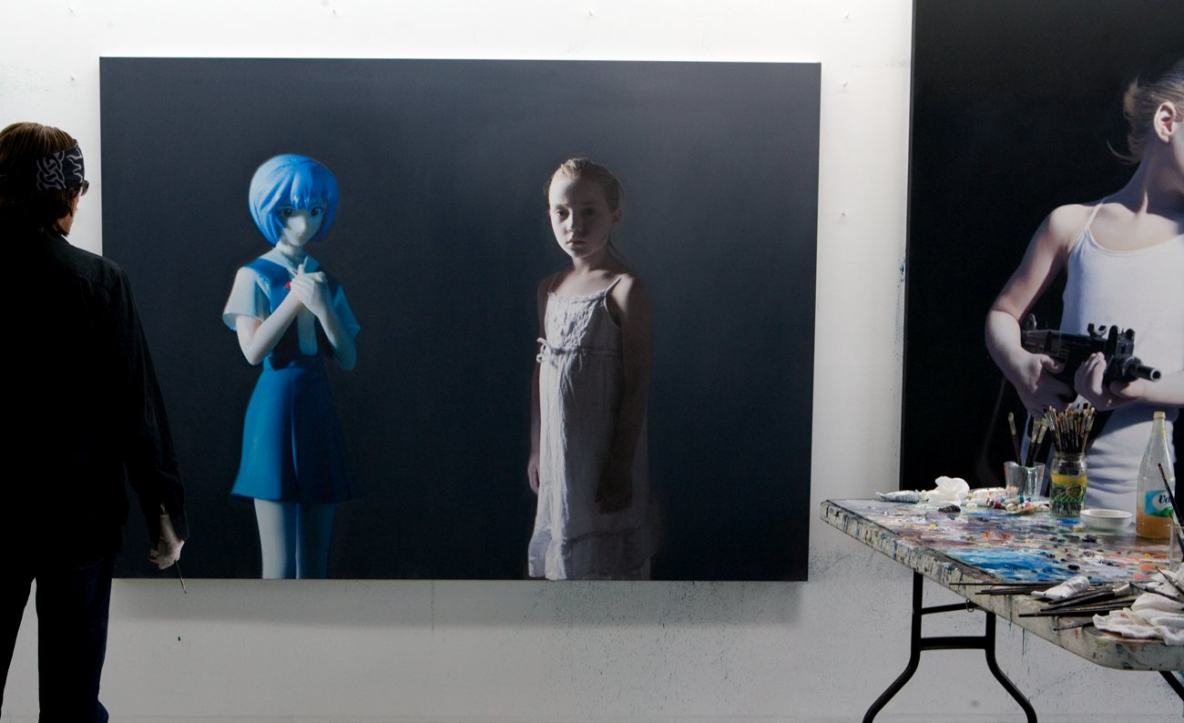 Helnwein-working-on-Murmur-of-the-Innocents