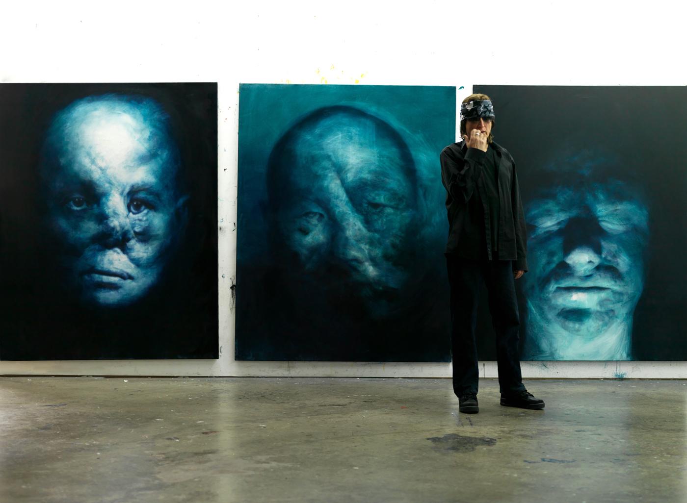 Gottfried Helnwein in his L.A. studio