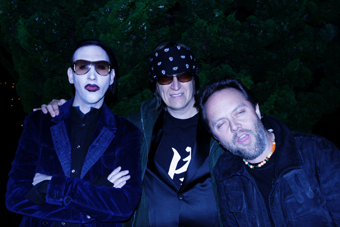 Manson, Helnwein and Lars Ulrich from Metallica