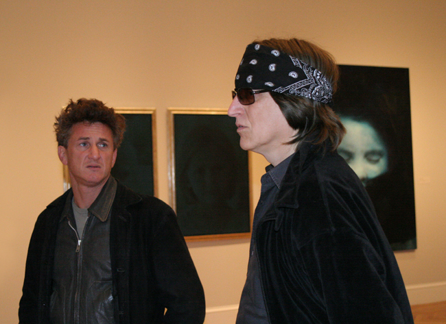 Sean Penn and Gottfried Helnwein