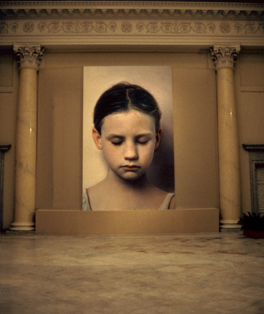 Kindskopf ( Head of a Child ), Helnwein Retrospective at the Mikhailovsky Palace of the State Russian Museum St. Petersburg