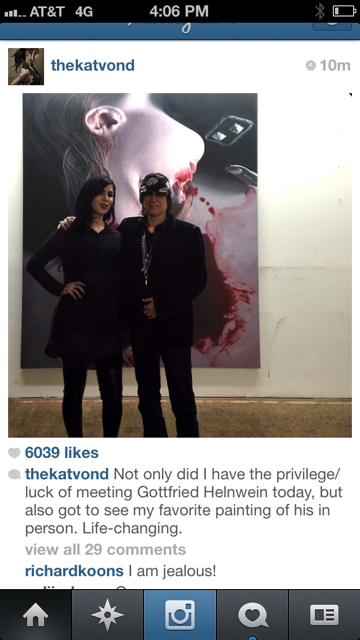 Instagram - Kat von D and Gottfried Helnwein