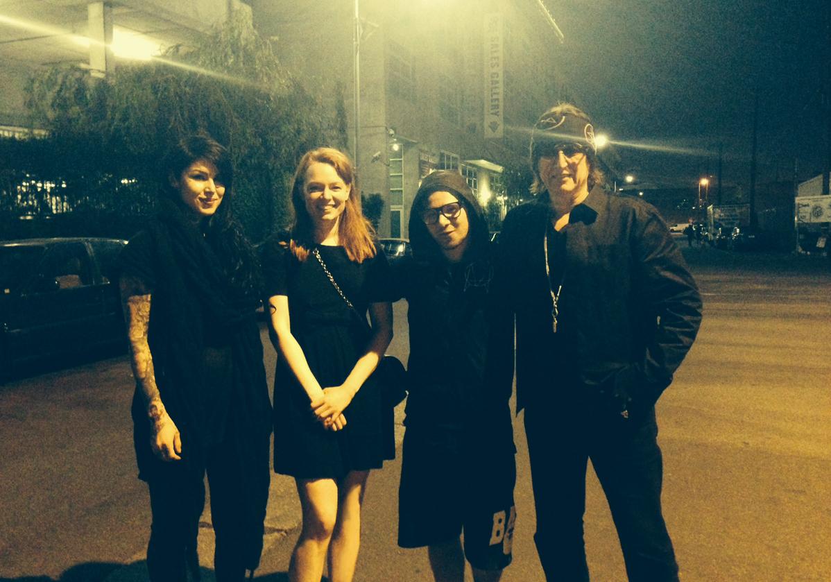 Kat Von D, Mercedes Helnwein, Sonny (Skrillex), Gottfried Helnwein