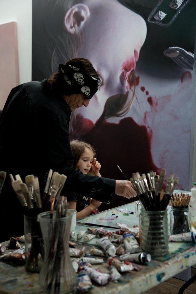 Helnwein at work