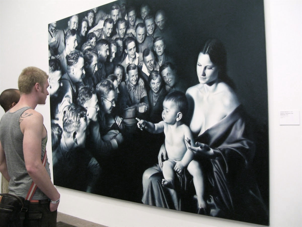 Helnwein's Epiphany III at the de Young Museum, San Francisco
