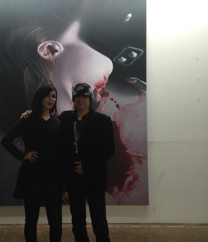 Kat von D and Gottfried Helnwein