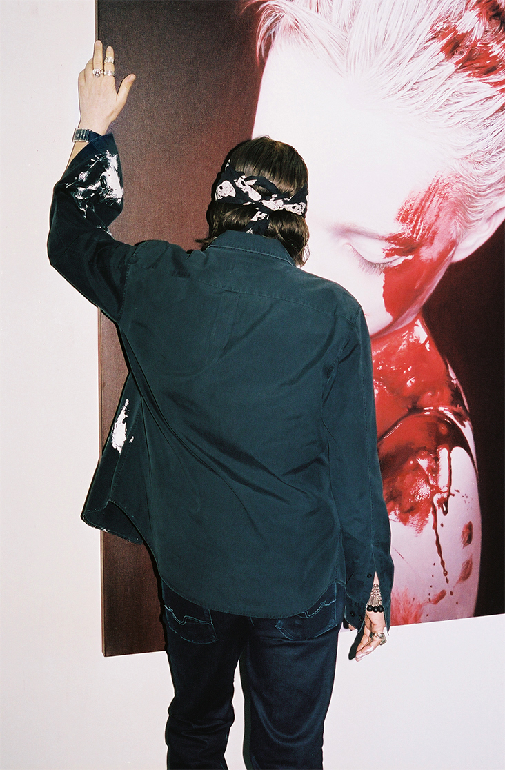 Helnwein at his studio in Los Angeles