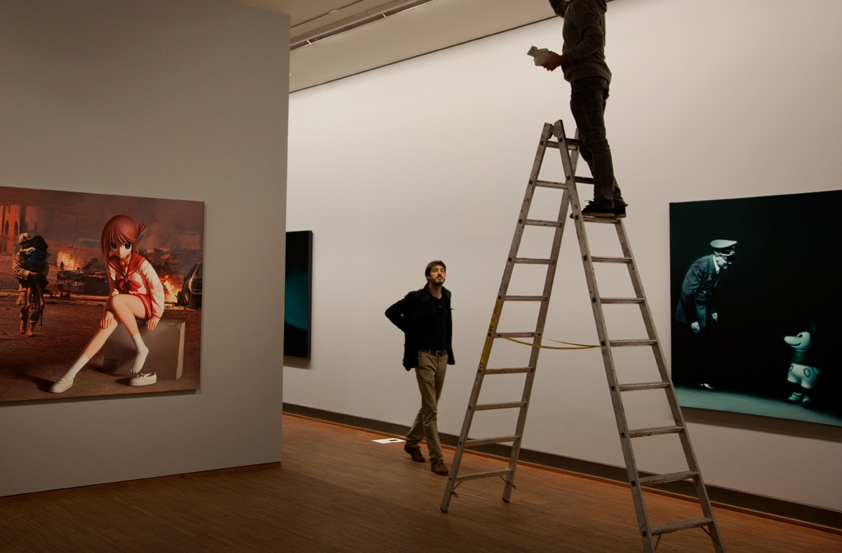 Installing the Helnwein-Exhibition at the Albertina
