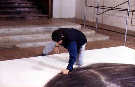 "Preparation for the ""Kindskopf"" (Head of a Child) Installation"