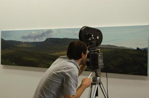 "Jason Lee filming ""Irish Landscape I"""