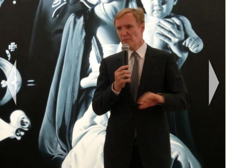 Direktor Klaus Albrecht Schröder eröffnet die Helnwein Retrospektive in der Albertina