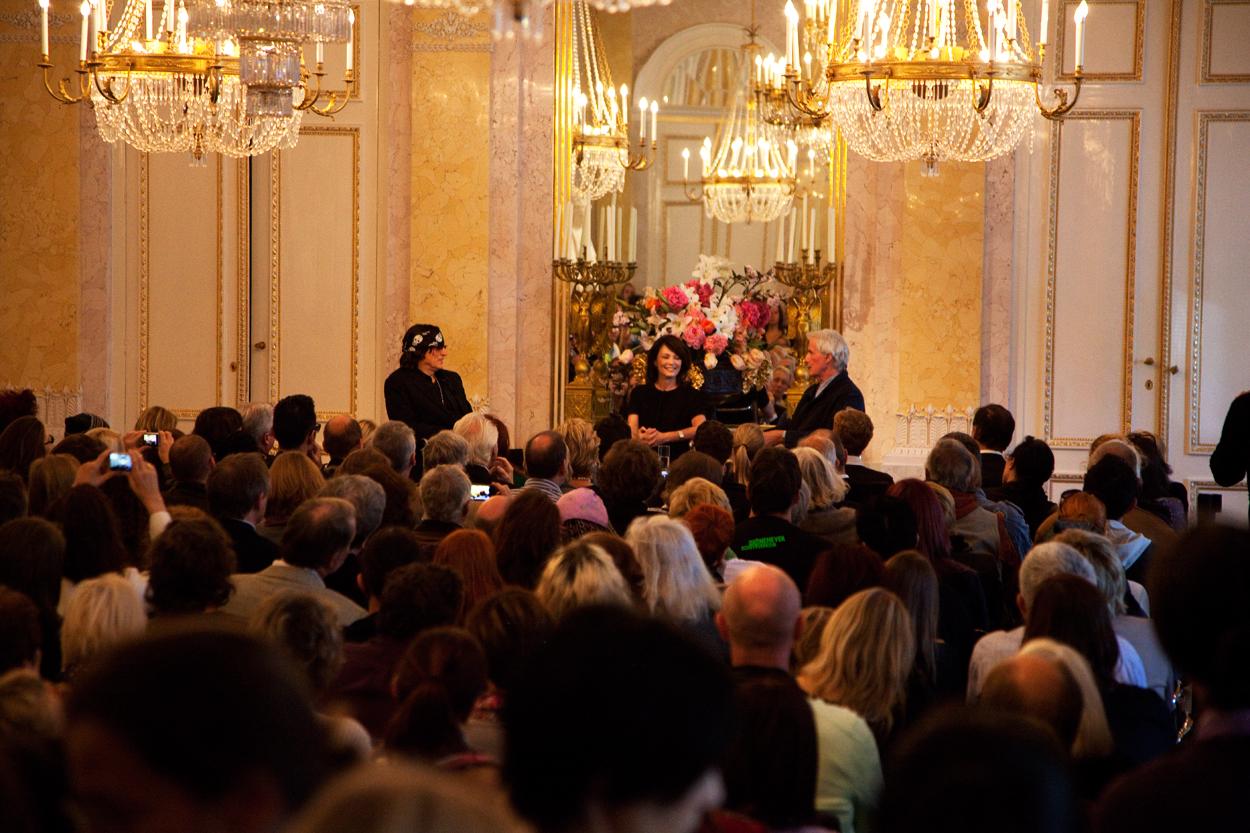 iris Berben und Gottfried Helnwein, Buchpräsentation in der  Albertina, Wien