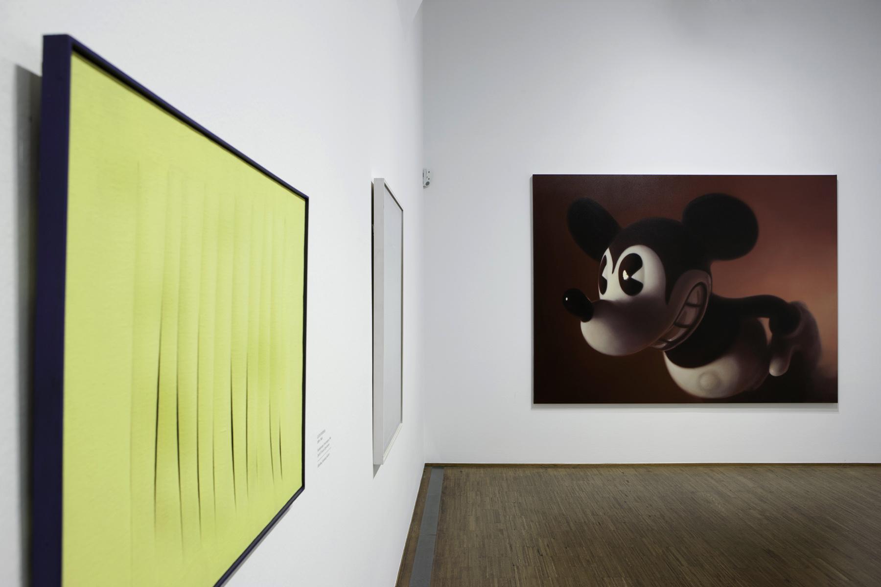 """Lucio Fontana, Gottfried Helnwein, """"Warhol bis Richter"""", Albertina Museum, Wien"""